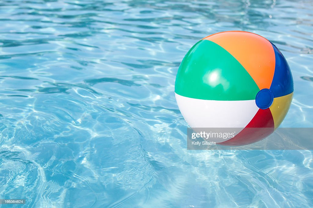 Beach Ball In Pool In Colorful Beachball In Pool Stock Photo In Getty Images