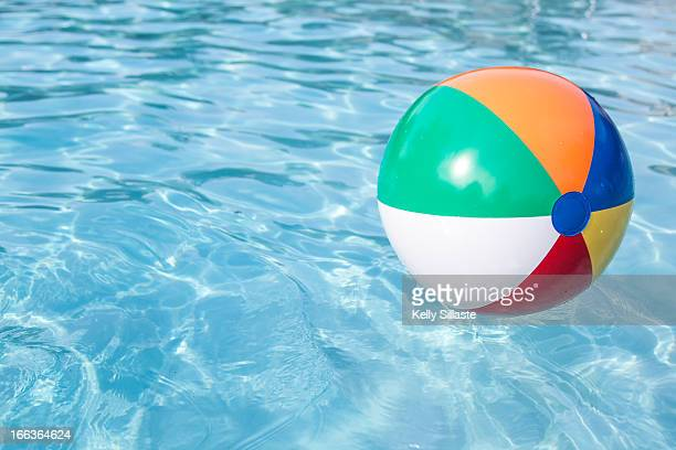 Colorful Beachball in a Pool