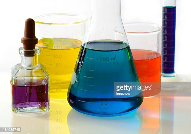 Colorful Beakers and Flasks - Lab Series