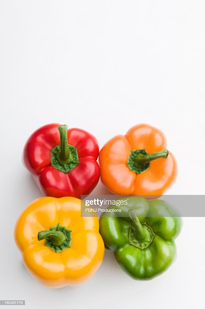 Colorful bell peppers : Stock Photo