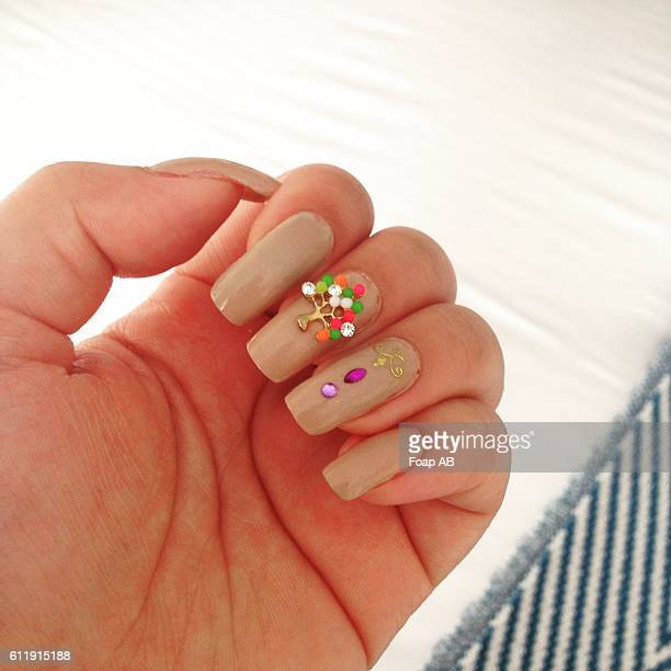 colorful birthday nail varnish - skin diamond stock pictures, royalty-free photos & images