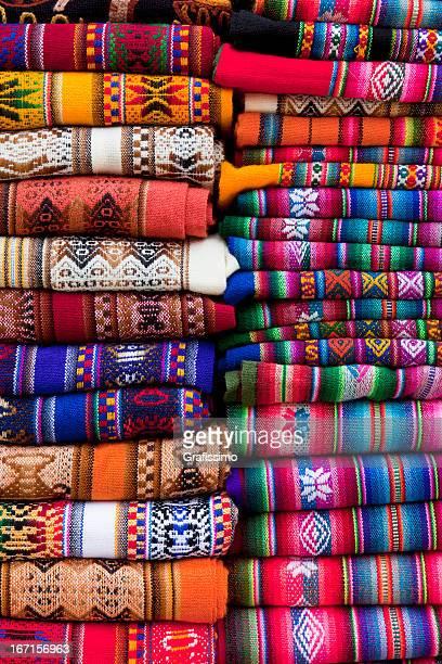 Couvertures colorée sur le marché en Argentine Amérique du Sud