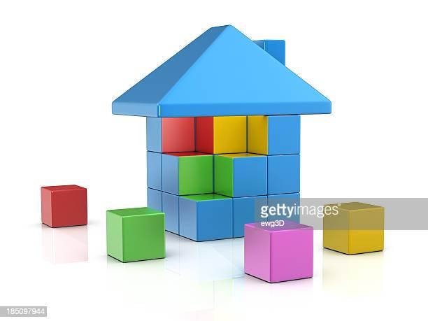 Colorful Blocks - House