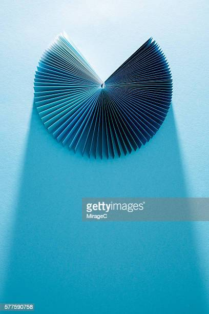 Colorful Blue Paper Pages Fanned Out
