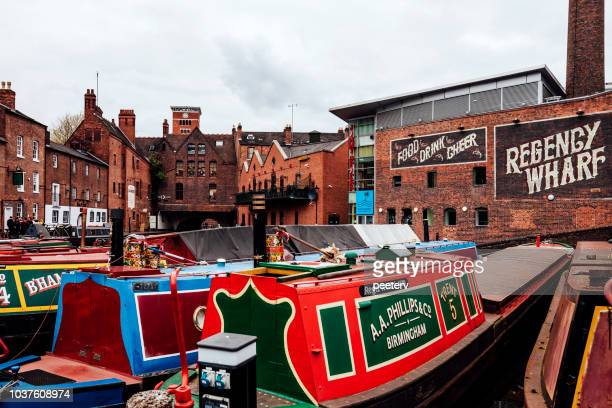 Colorful boats - Birmingham, UK