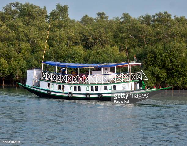 Colorful boats for tourists in Sundarban