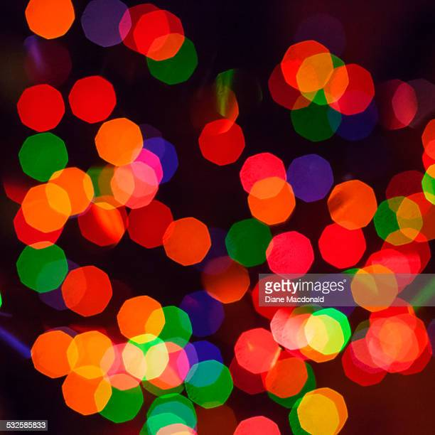 Colorful bokeh from Christmas lights