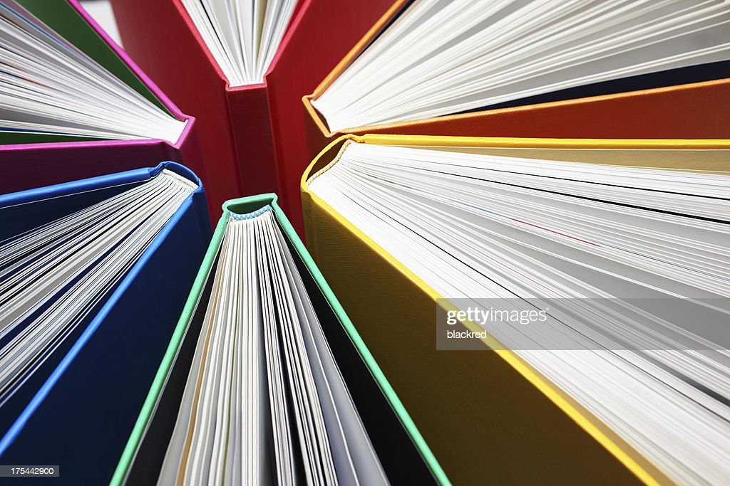 Colorful Books Abstract Stock Photo | Getty Images