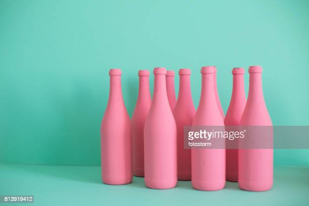 colorido garrafas - colorido pastel - fotografias e filmes do acervo