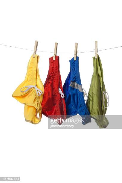 colorful briefs - skimpy bathing suits stock pictures, royalty-free photos & images