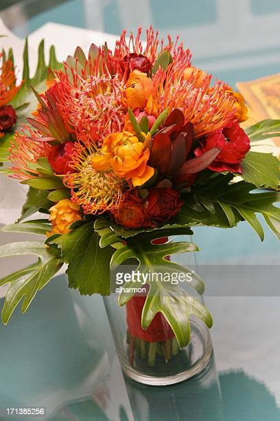 Colorful Bright Beautiful Floral Arrangement in Vase Still Life