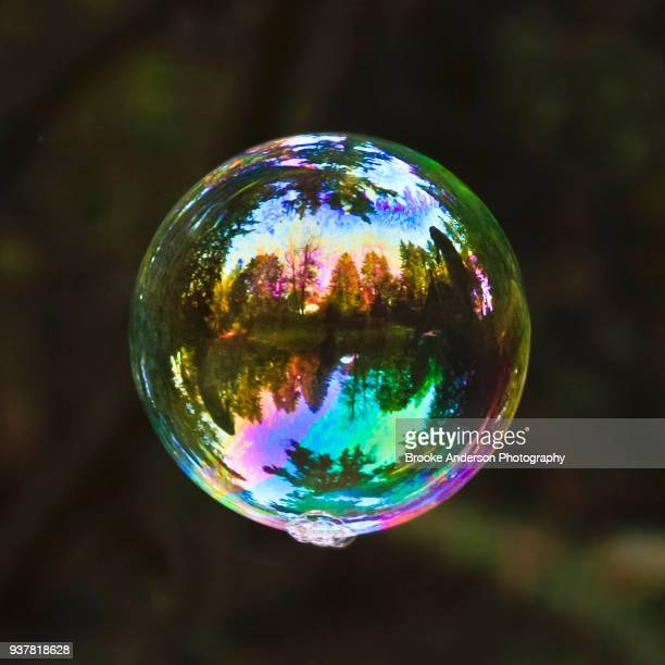 Colorful Bubble Floating In Air