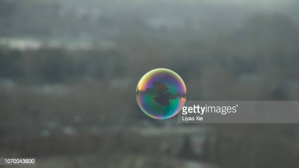 a colorful bubble - liyao xie stock pictures, royalty-free photos & images
