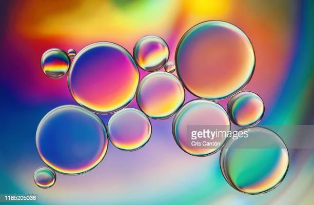 colorful bubbles - cris cantón photography fotografías e imágenes de stock