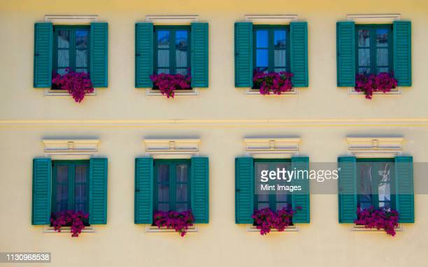 colorful building - karlovy vary stock pictures, royalty-free photos & images