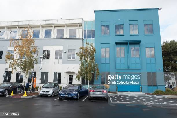Colorful buildings at the headquarters of social network company Facebook in Silicon Valley Menlo Park California November 10 2017