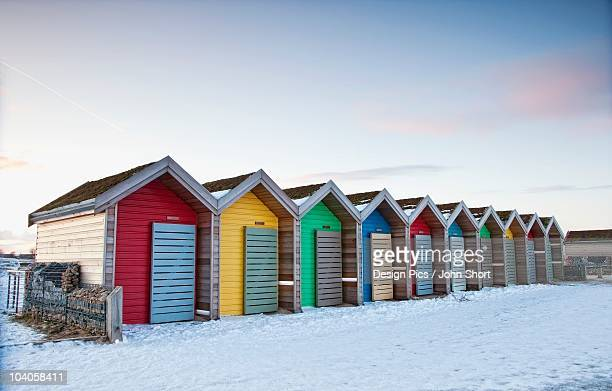 colorful buildings in a row - blyth northumberland stock pictures, royalty-free photos & images