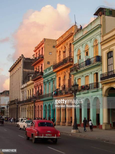 colorful buildings in havana, cuba - old havana stock pictures, royalty-free photos & images