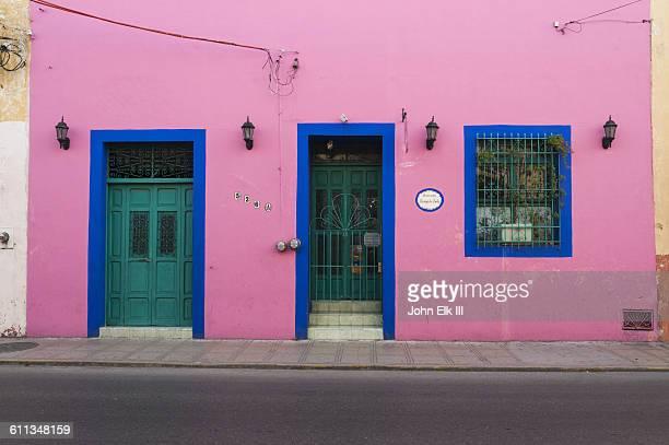 Colorful buildings in Merida, Mexico