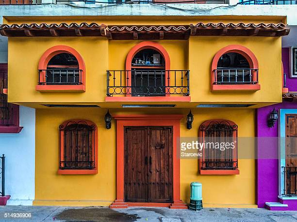 Colorful buildings in Puerto Vallarta, Mexico