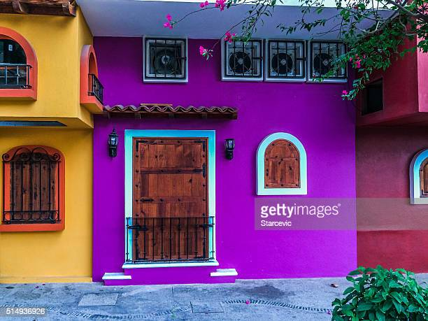 Colorful buildings in Puerto Vallarta, Mexico