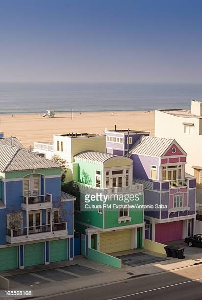Colorful buildings in seaside town