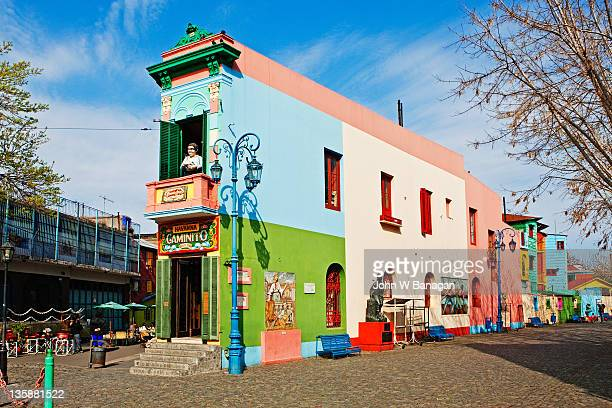 colorful buildings, la boca,buenos aires, - buenos aires stock pictures, royalty-free photos & images