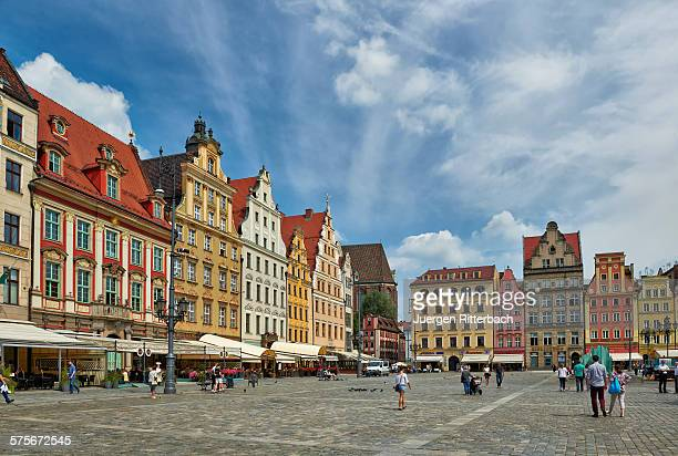 colorful buildings on Market Square of Wroclaw
