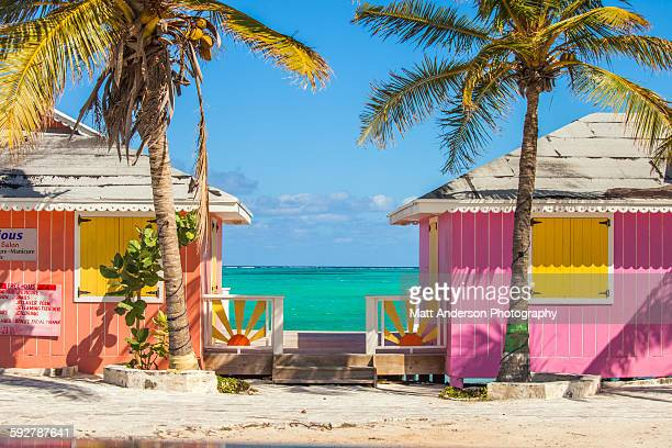 Colorful buildings on the Turks and Caicos islands