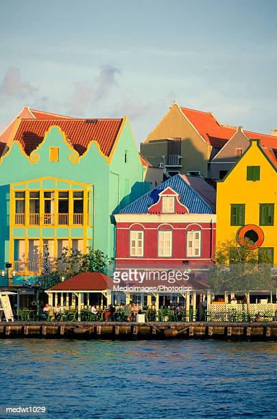 Colorful buildings on Willemstad waterfront, Curacao, Caribbean