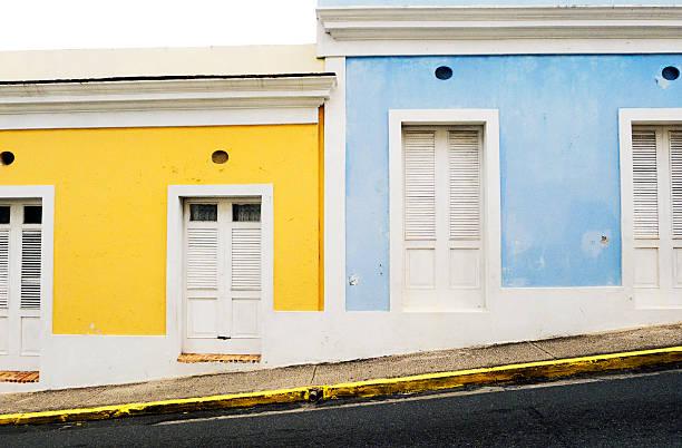 Buildings along a street, Old San Juan, San Juan, Puerto Rico ...