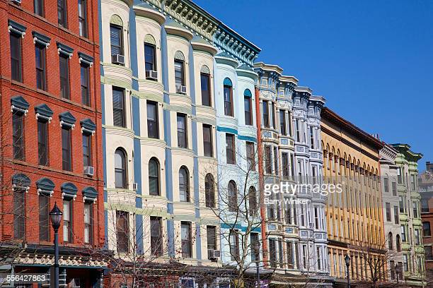 Colorful buildings, Washington Avenue, Hoboken