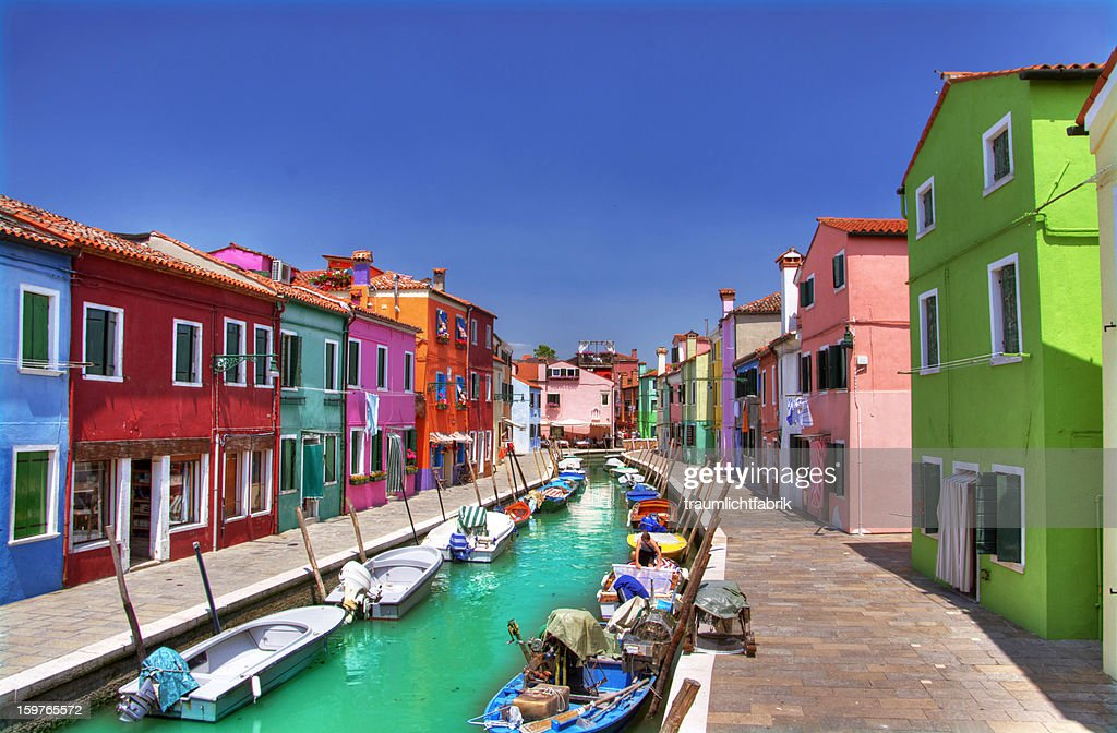 colorful Burano : Stock Photo