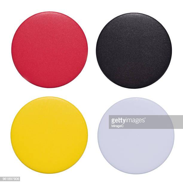 Colorful Button Badges Set