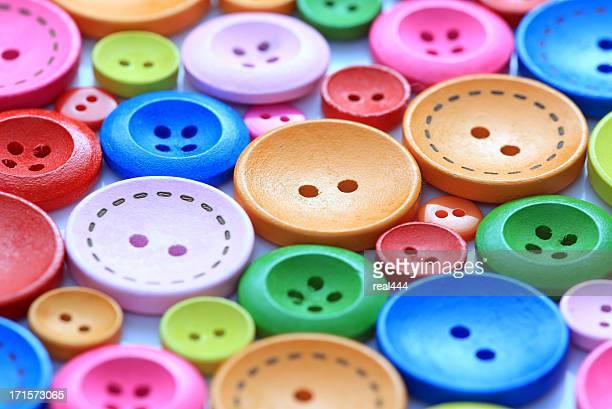 colorido botones de - botón mercería fotografías e imágenes de stock