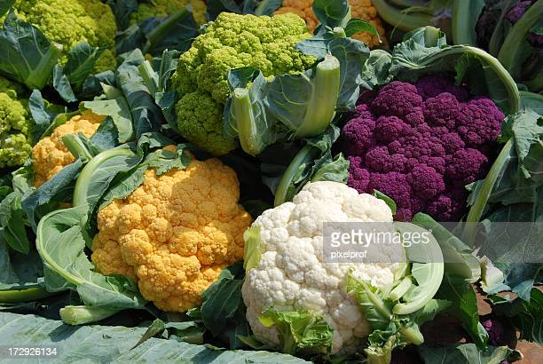 Colorful cauliflowers