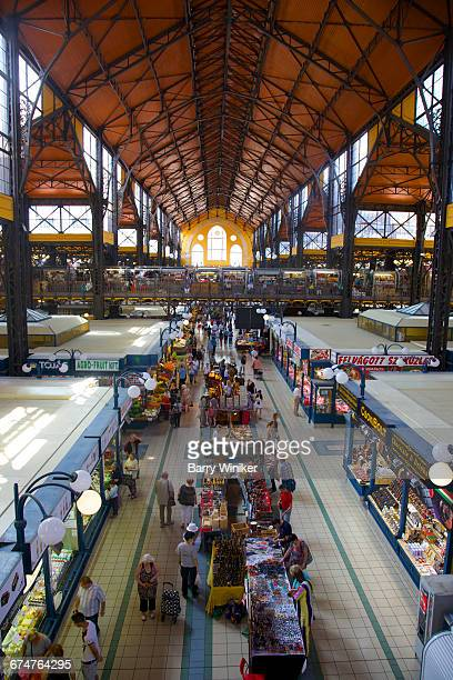 Colorful Central Market Hall, Budapest, Hungary