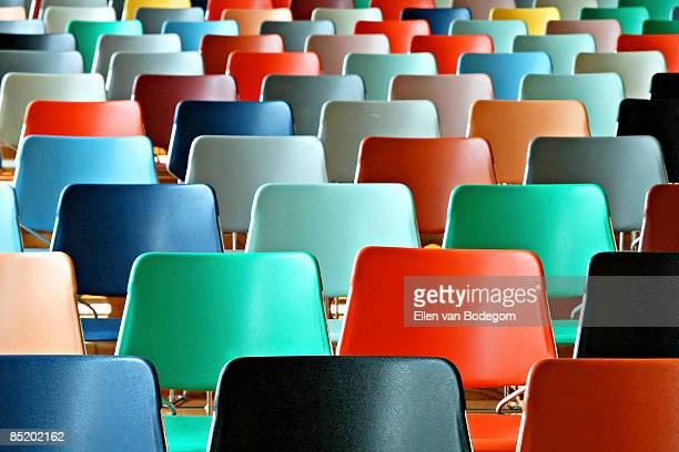colorful chairs - repetition stock pictures, royalty-free photos & images