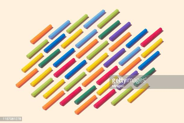 Colorful Chalks Collection Pattern