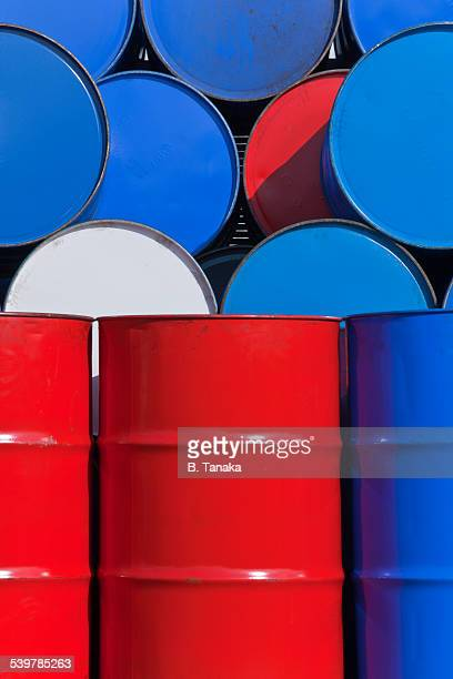 Colorful chemical drums