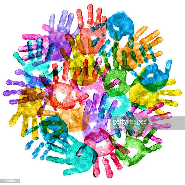 Colorful Children Hand Prints