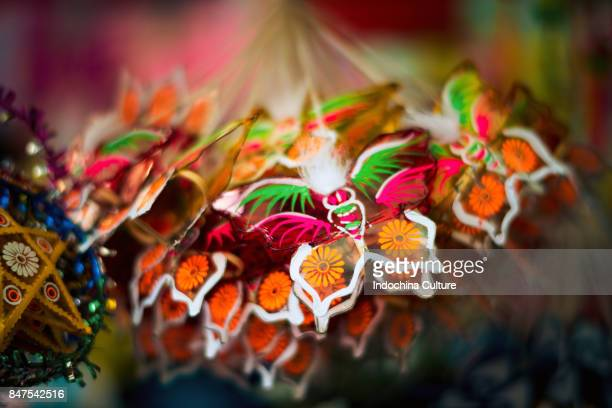 colorful chinese paper lantern mid-autumn moon festival 2017 - loi krathong stock photos and pictures