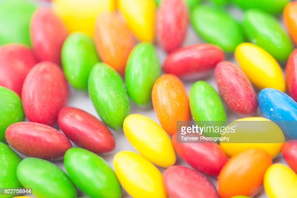 Colorful chocolate beans