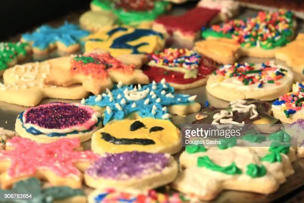Colorful Christmas cookies for the holiday season