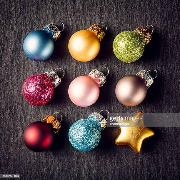 Bunte Weihnachten Square-Sterne-Einrichtung Ornament Slate