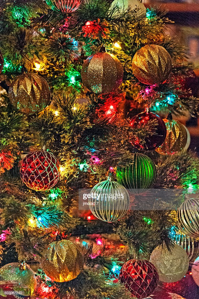 Colorful Christmas Tree Decorations High Res Stock Photo Getty Images