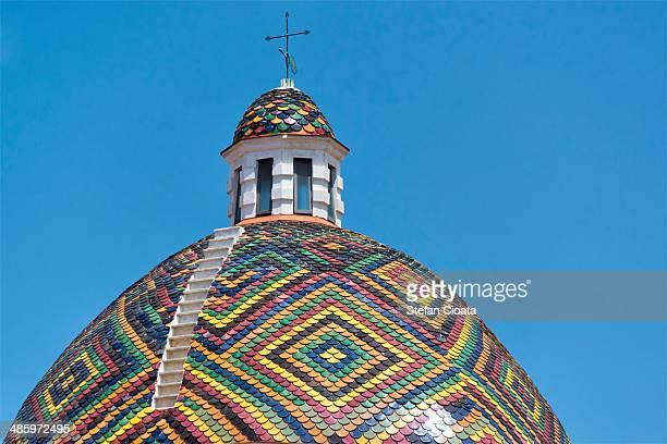 Colorful church tower Algero
