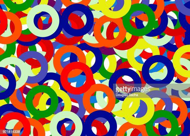 Colorful Circles in an abstract pattern