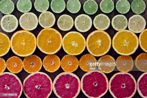 colorful citrus - 抗酸化物質 ストックフォトと画像