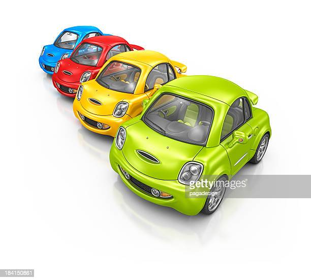 colorful city cars